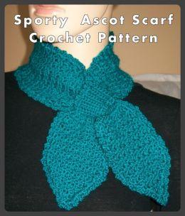 Sporty Ascot Scarf Crochet Pattern