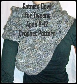 Katniss Cowl for Tweens Ages 8-12 Crochet Pattern