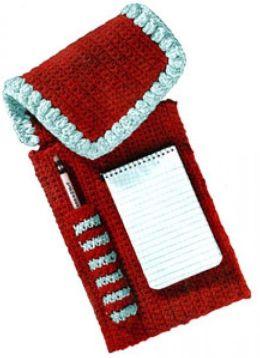 Notepaper and Pencil Case Vintage Crochet Pattern