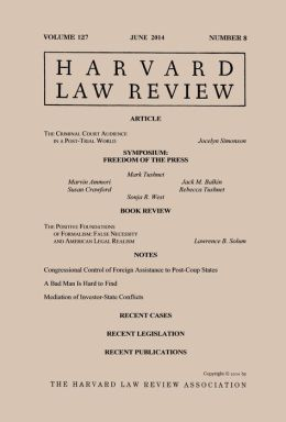Harvard Law Review: Volume 127, Number 8 - June 2014