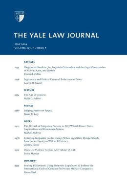 Yale Law Journal: Volume 123, Number 7 - May 2014