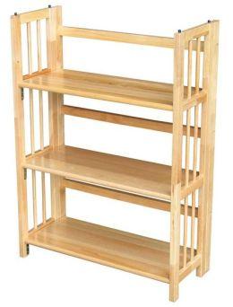 Yu Shan CO USA Ltd 330-20 3 Tier Folding Bookcase, Natural