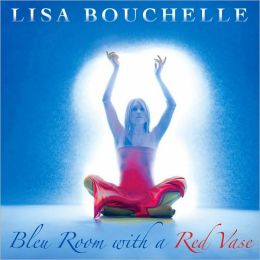Bleu Room with a Red Vase