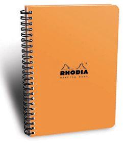Rhodia Orange Meeting Book Lined Spiral Journal 6.25