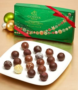 Godiva 18 Piece Holiday Assorted Truffles Gift Box