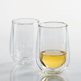 Steady-Temp Double Wall Chardonnay/Chablis Stemless Wine Glasses - Set of 2