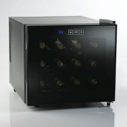 Silent 12 Bottle Touchscreen Wine Refrigerator (Reflective Smoke)