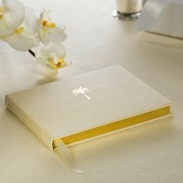 Gold Palm Tree Motif Guestbook