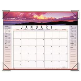 At-A-Glance 89802 Panoramic Landscape Monthly Desk Pad Calendar, 22 x 17