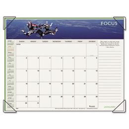 At-A-Glance 89801 Panoramic Motivational Monthly Desk Pad Calendar, 22 x 17
