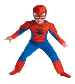 Spider-Man Muscle Toddler Costume: Size Toddler (3T-4T)