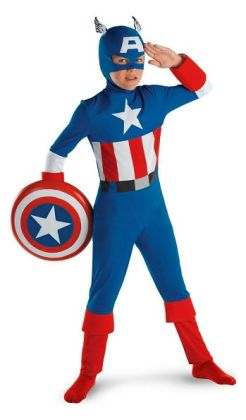 Captain America Classic Child Costume: Size Large (10-12)