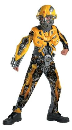 Transformers Bumblebee Movie Deluxe Child Costume: Size Large (10-12)