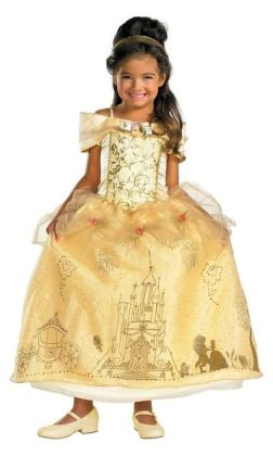Disney Princess Belle Prestige Toddler/Child Costume: Size Medium (7-8)