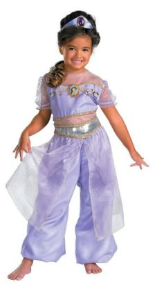Aladdin Jasmine Deluxe Toddler/Child Costume: Size Toddler (3T-4T)