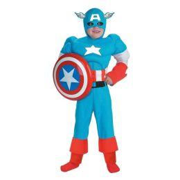 Captain America Deluxe Muscle Child Costume: Size Medium (7-8)