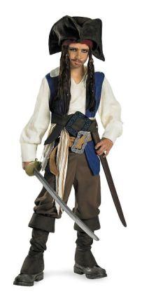 Pirates of the Caribbean 4 On Stranger Tides - Captain Jack Sparrow Child Costume: Large (10/12)