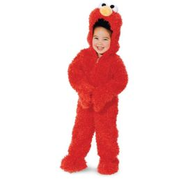 Sesame Street Elmo Plush Deluxe Toddler Costume: Size Toddler (3T-4T)