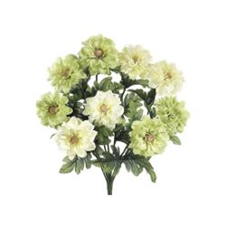 Allstate FBD718-CR-GR 18 in. Cream and Green Dahlia Bush X9- Case of 12