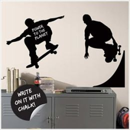 Chalkboard Skaters Chalk Peel & Stick Wall Decals