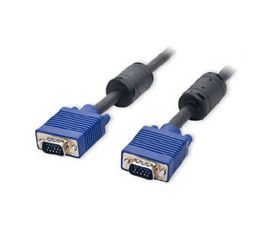 Syba CL-CAB32006 VGA HD15 Male to Male Ferrite Cores Nickel Plated Cables (15 Meters)