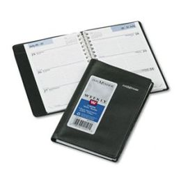 At-A-Glance G23500 Weekly Appointment Book Hourly Appointments Refillable 3-3/4 x 6 Black