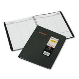 At-A-Glance 7095705 Academic/Fiscal (Jul-Aug) Weekly Appointment Book 8-1/4 x 10-7/8 Black