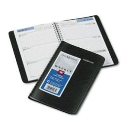 At-A-Glance G20000 Weekly Appointment Book Hourly Appointments Nonrefillable 4-7/8 x 8 Black