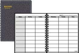 AT-A-GLANCE Teacher's Planner Black 8.25x11 Undated 80-155-05 Pack Of 6