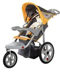 2010 InSTEP Grand Safari Swivel Jogging Stroller In Gray/Yellow