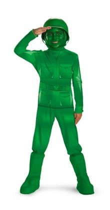 Toy Story - Green Army Man Deluxe Child Costume: Size Toddler (3T-4T)