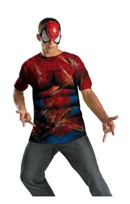 Spider-Man Mask and T-Shirt Costume Set: Size Tween (14-16)