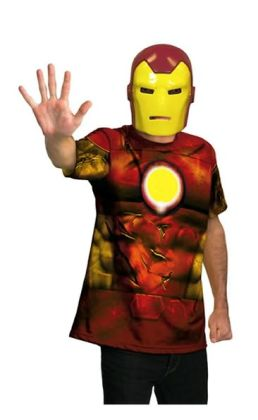 Iron Man Mask and T-Shirt Costume Set: Size Tween (14-16)