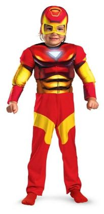Iron Man Muscle Toddler Costume: Size 3T-4T