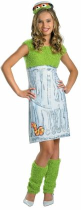 Sesame Street - Oscar the Grouch Child / Tween Costume: Size 14/16