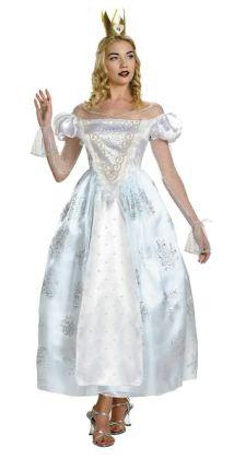 Alice In Wonderland - White Queen Deluxe Adult Costume: Medium (8-10)