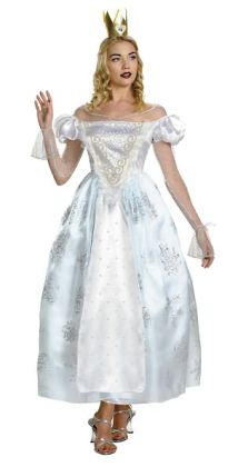 Alice In Wonderland - White Queen Deluxe Adult Costume: Small (4-6)