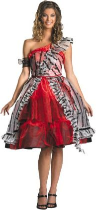 Alice In Wonderland - Alice Red Court Dress Adult Costume: Small (4-6)