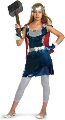 Thor Movie - Thor Girl Tween Costume: X-Large (14/16)