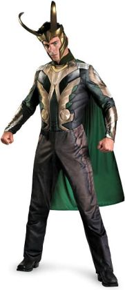 Thor Movie - Loki Deluxe Adult Costume: Plus Size (50-52)
