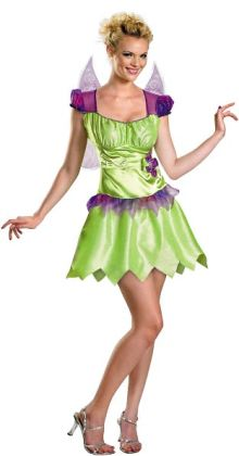 Tinker Bell Rainbow Classic Adult Costume: Small (4-6)