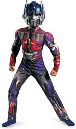 Transformers 3 Dark of the Moon Movie - Optimus Prime Muscle Child Costume: Large (10-12)