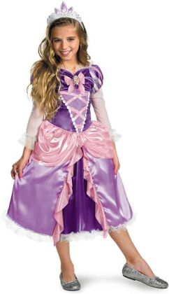 Disney Tangled - Rapunzel Lame Deluxe Toddler / Child Costume: Small (4/6x)