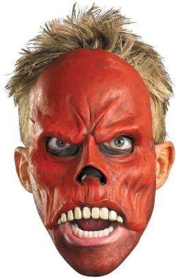Captain America Movie - Red Skull 1/4 Mask (Adult): One-Size