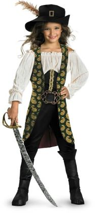 Pirates of the Caribbean 4 On Stranger Tides - Angelica Deluxe Child Costume: Large (10/12)