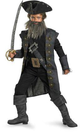 Pirates of the Caribbean 4 On Stranger Tides - Black Beard Child Costume: Large (10/12)