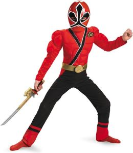 Power Rangers Samurai - Red Ranger Muscle Child Costume: Small (4/6)