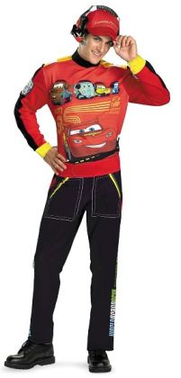 Cars Lightning Mcqueen Adult Costume: X-Large (42-46)
