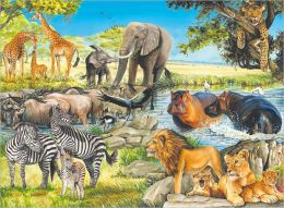 African Afternoon - 100 piece puzzle
