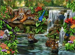 Tiger Falls - 500 piece puzzle